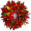 Chile wreath transparent