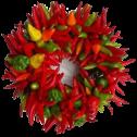 Chile wreath transparent