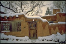 Adobe house, New Mexico