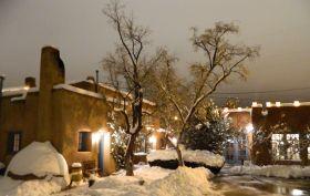 Winter Wonderland at Pueblo Bonita Inn, Santa Fe, NM